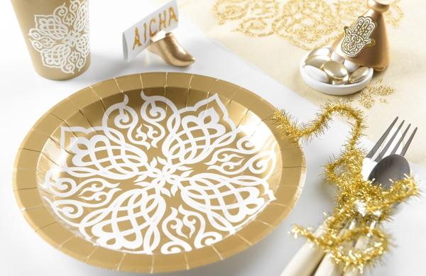 Partyteller orientalisch gold 1001 nacht partydekoration - Dekoration orientalisch ...