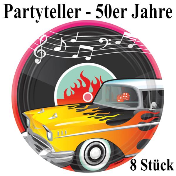 partyteller 50er jahre partydekoration mottoparty fifties rock and roll ballonsupermarkt. Black Bedroom Furniture Sets. Home Design Ideas