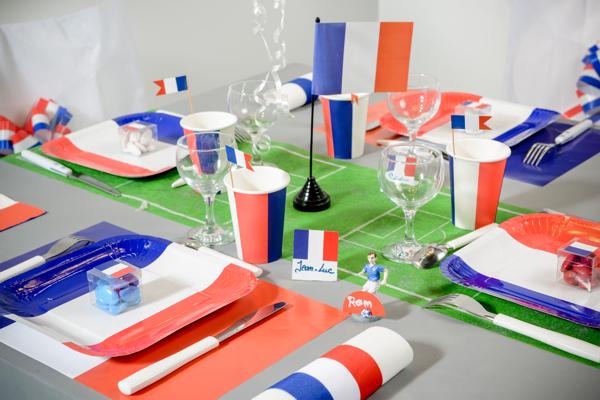 Ballonsupermarkt deko tischuntersetzer for Frankreich dekoration