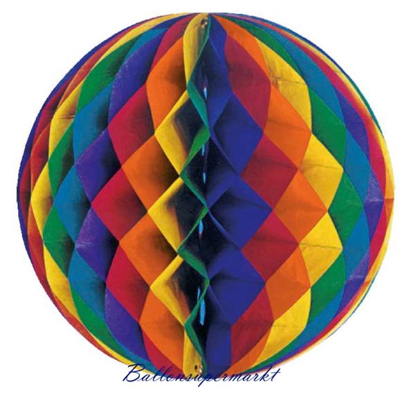 Ballonsupermarkt gro er wabenball 60 cm for Regenbogen dekoration