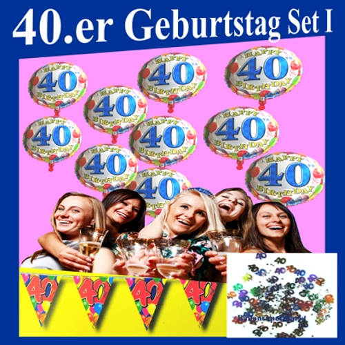 ballonsupermarkt geburtstag set i geburtstag 40 geburtstagsdeko sets. Black Bedroom Furniture Sets. Home Design Ideas