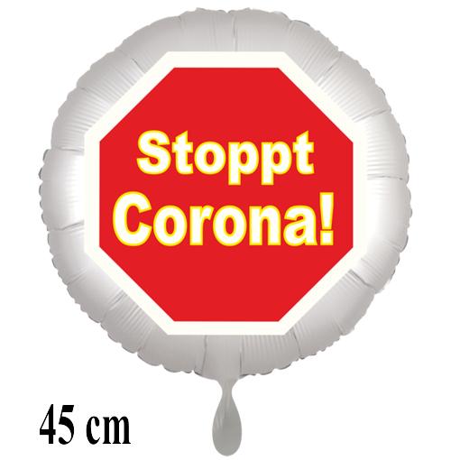 Stoppt Corona Luftballon