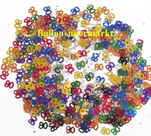 ballonsupermarkt konfetti tischdeko zum 80 geburtstag konfetti geburtstag. Black Bedroom Furniture Sets. Home Design Ideas