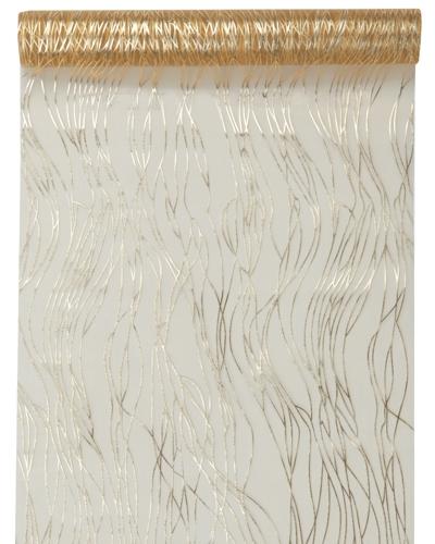ballonsupermarkt deko tischl ufer tischdecke gold mit streifen. Black Bedroom Furniture Sets. Home Design Ideas