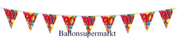 Ballonsupermarkt wimpelkette 90 geburtstag 90 besondere geburtstage - Geburtstagsideen zum 90 ...