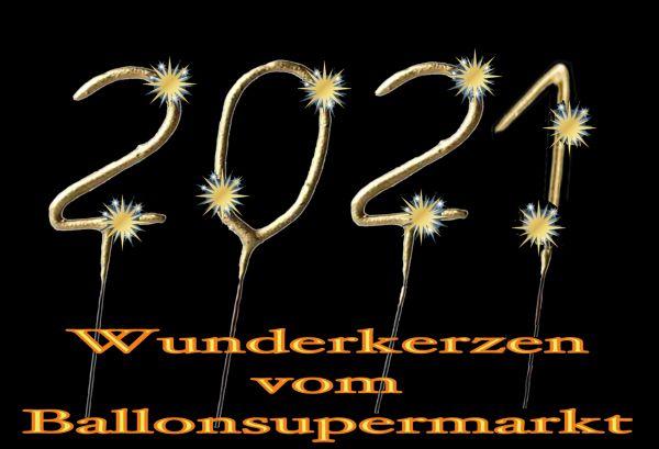 Dekoration Silvester - Wunderkerzen Gold 2021