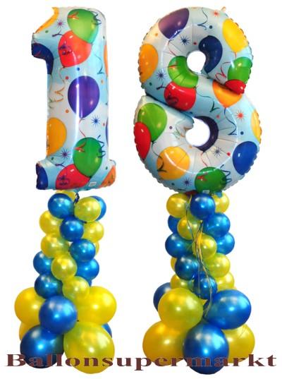 Geburtstagsdekoration Aus Luftballons Zum 18 Geburtstag Inklusive