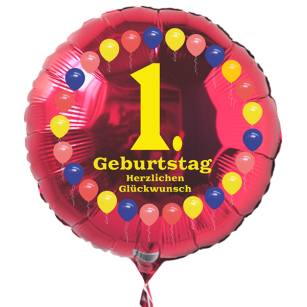 luftballon 1 geburtstag ballonsupermarkt. Black Bedroom Furniture Sets. Home Design Ideas