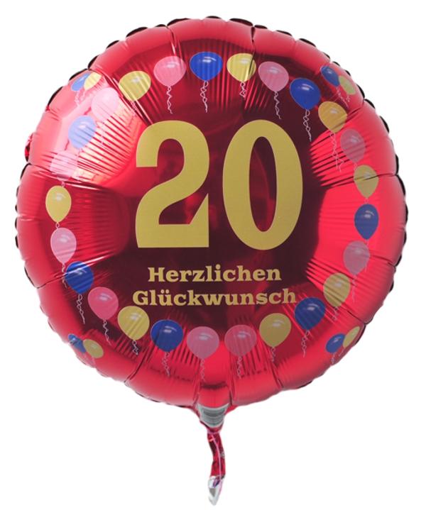 ballonsupermarkt luftballon 20 geburtstag. Black Bedroom Furniture Sets. Home Design Ideas