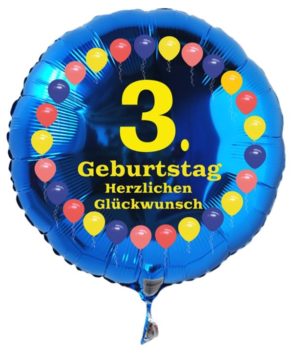 Luftballon 3. Geburtstag Ballonsupermarkt-Onlineshop.de