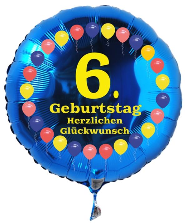 Luftballon Aus Folie 6 Geburtstag Herzlichen Glückwunsch Ballons