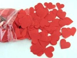 Herzkonfetti Rot