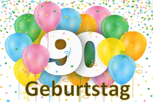 Geburtstag 90.