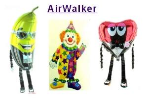 Luftballons aus Folien, Airwalker, inklusive Helium-Ballongas