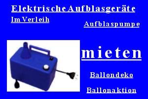 Elektrische Ballonpumpen zum Mieten