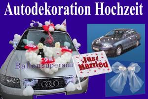 Autodekoration Hochzeit, Dekoration Hochzeitsauto