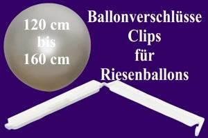 Ballonverschlüsse, Clips für Riesenballons von 120 cm bis 160 cm