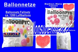 Ballonnetze, Netze für Luftballons
