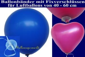 Fixverschlüsse mit Ballonbändern für Luftballons ab 40 cm Durchmesser