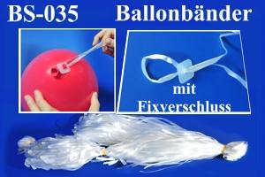 Ballonbänder mit Patentverschlüssen BS-035