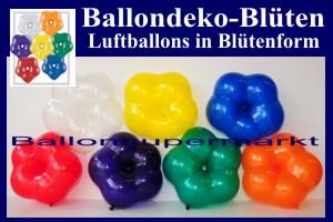 Blüten-Luftballons, Ballondeko