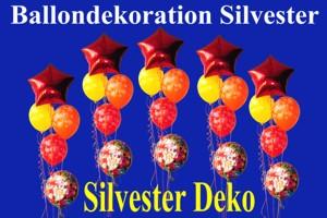 Ballondekoration Silvester
