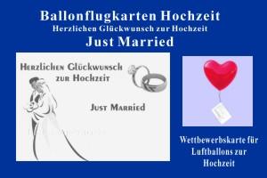 Ballonflugkarte Hochzeit, Herzlichen Glueckwunsch