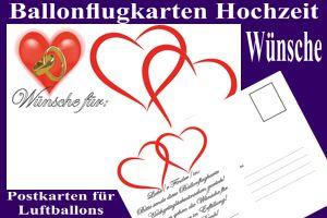 Ballonflugkarten Hochzeit, Wünsche für das Brautpaar