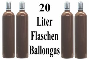 Ballongas Helium 20 Liter Flaschen