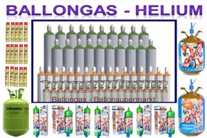 Ballongas und Helium für schwebende Luftballons