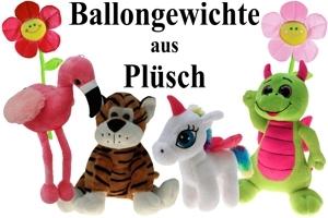 Ballongewichte aus Plüsch