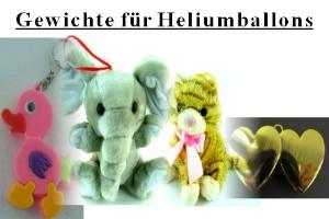 Ballongewichte, Gewichte für Luftballons mit Helium