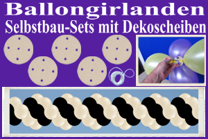 Ballongirlanden, Girlanden aus Luftballons, Selbstbau-Sets mit Dekoscheiben
