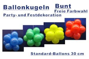 Ballonkugeln Standard Bunt