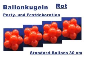 Ballonkugeln Standard Rot