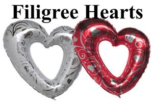 Hochzeit Filigree Hearts Sets