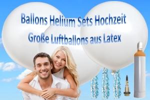 Hochzeit Sets mit großen Latexballons