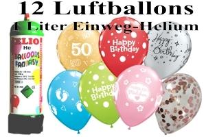 Luftballons mit dem Helium-Mini Behälter 1