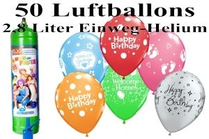 Luftballons mit dem Heliumbehälter 2,8