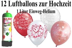 Luftballons Hochzeit mit dem Helium-Mini Behälter 1