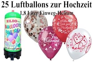 Luftballons Hochzeit mit dem Helium-Mini Behälter 1,8