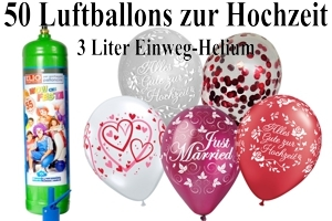 Luftballons Hochzeit mit dem Heliumbehälter 3