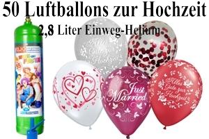 Luftballons Hochzeit mit dem Heliumbehälter 2,8