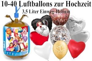 Luftballons Hochzeit mit dem Heliumbehälter 3,5
