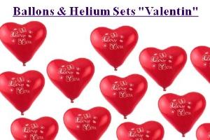Ballons und Helium Sets Liebe und Valentinstag