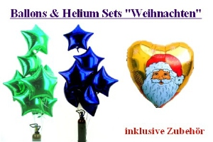 "Ballons & Helium Sets ""Weihnachten"""