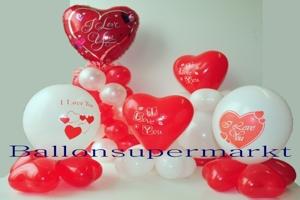 Ballons und Dekoration zu Valentinstag und Liebe