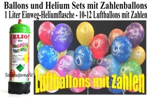 Kindergeburtstag Ballons und Helium Sets mit Zahlenballons aus Latex