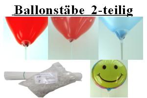 Zweiteilige Ballonstäbe mit Halterung für Luftballons