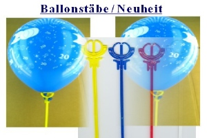 Neiheit: Einteilige Ballonstäbe für Luftballons - praktisch und einfach